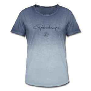 Gipfelschnaps Männer T-Shirt Schwarz Vintage