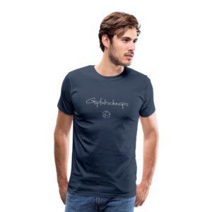 Gipfelschnaps Männer T-Shirt Weiß