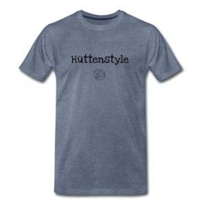 Hüttenstyle Männer T-Shirt Schwarz