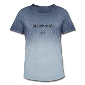 Hüttenstyle Männer T-Shirt Schwarz Vintage