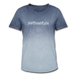 Hüttenstyle Männer T-Shirt Weiß Vintage