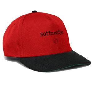Hüttenstyle Cap schwarz