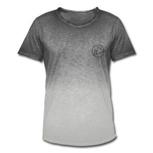 Peakwear Logo Männer T-Shirt Schwarz Vintage