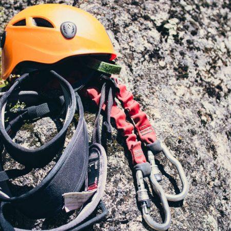Ein Klettersteigset für Via Ferrata