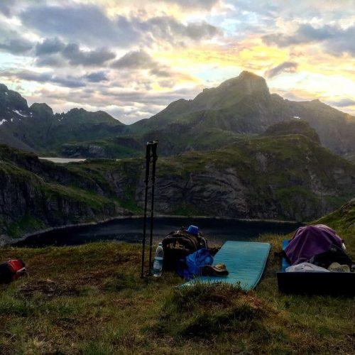 Ein Outdoor Schlafplatz in Norwegen auf den Lofoten