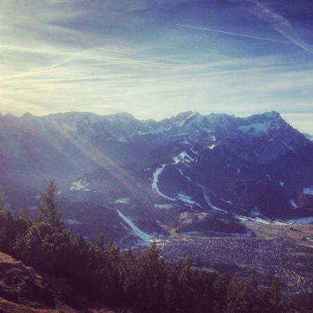 Blick auf die Zugspitze vom Wank aus